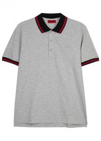Hugo Darese Grey Stretch Cotton Polo Shirt