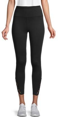 Nanette Lepore Lace-Trim Ankle-Length Leggings