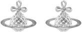 Vivienne Westwood Women's Simone Bas Relief Earrings Rhodium