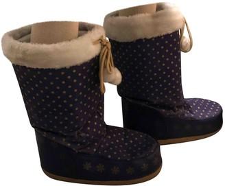 Manoush Blue Faux fur Boots