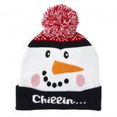 Jessica Women's Holiday Snowman Toque With Pom Pom