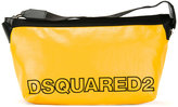 DSQUARED2 two-tone logo wash bag - men - Cotton/Polyester - One Size