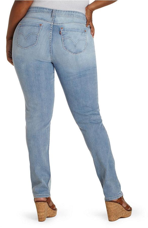 Levi's Plus Size Jeans, Triple Needle Skinny, Landslide Wash