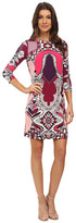 Donna Morgan 3/4 Sleeve Shift Statement Print Dress