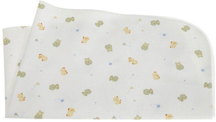 Carter's keep-me-dry frog flannel bassinet pad