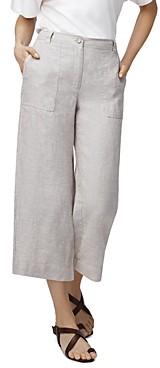 b new york Lightweight Cropped Linen Pants