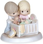 "Precious Moments We're Glad You Came Into Our Lives"" Parents With Baby In Crib Figurine"