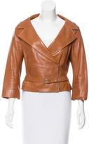 Celine Belted Leather Jacket