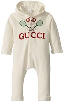 Gucci Kids Long Sleeve All-In-One 586243XJBHC (Infant) (White/Multicolor) Kid's Jumpsuit & Rompers One Piece