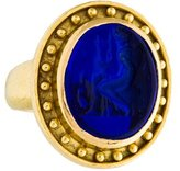 Elizabeth Locke 18K Venetian Glass Intaglio Ring