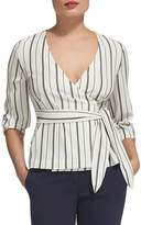 Whistles Lianne Striped Wrap Top
