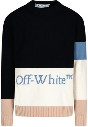 Off-White Colour-Block Knit Sweater
