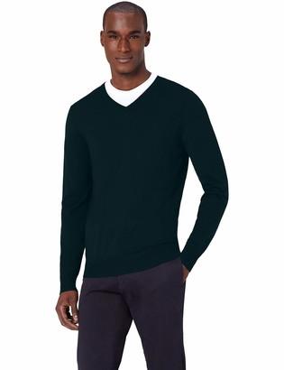 Meraki Amazon Brand Men's Fine Merino Wool V-Neck Jumper