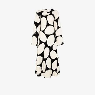 Marni Polka Dot Midi Dress