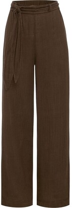 Peony Swimwear belted Vacation trousers