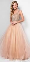 Terani Couture Two Tone Beaded Illusion Princess Ball Gown