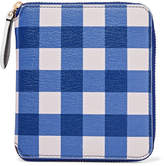 Diane von Furstenberg Medium Gingham Textured-leather Wallet