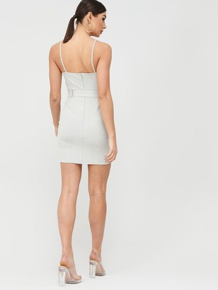 Missguided Suedette Belted Mini Dress - Mint