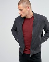 Armani Jeans Bomber Jacket In Wool