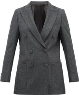 Officine Generale Manon Double-breasted Wool Blazer - Womens - Grey