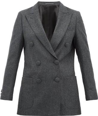 Officine Generale Manon Double-breasted Wool Blazer - Womens - Grey