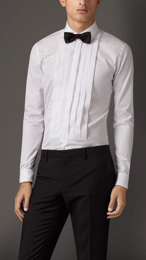 Burberry Slim Fit Cotton Poplin Dress Shirt