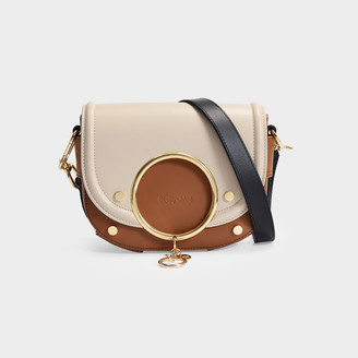 See by Chloe Mara Crossbody Bag In Cement Beige Smooth Leather