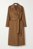 Thumbnail for your product : MICHAEL Michael Kors Belted Wool-blend Felt Coat - Brown