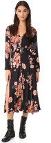 Free People Miranda Printed Midi Dress