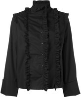Marques Almeida Marques'almeida - frill-embroidered shirt - women - Cotton - S