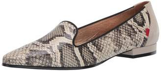 Marc Joseph New York Womens Leather Luxury Flat with Smoking Slipper Detail Loafer