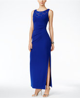Connected Embellished Ruched Gown