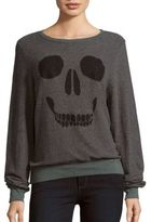 Wildfox Couture Skull Face Print Pullover