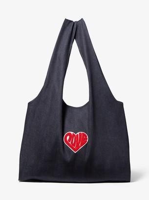 MICHAEL Michael Kors Watch Hunger Stop LOVE Denim Tote Bag