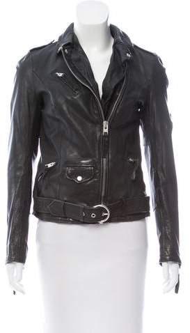 AllSaints Belted Leather Jacket