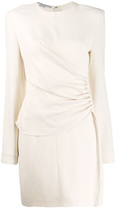 Stella McCartney gathered-panel fitted mini-dress