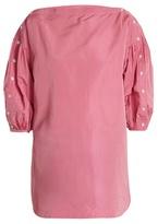 Rachel Comey Billow-sleeved taffeta top