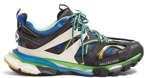 Balenciaga Track Low Top Trainers - Mens - Black Green