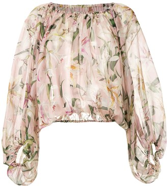 Dolce & Gabbana Lily-Printed Blouse