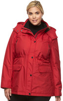 Croft & Barrow Plus Size Hooded Anorak Rain Jacket