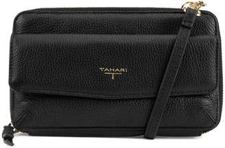 T Tahari Zip Around Leather Phone Wallet w/ Charger