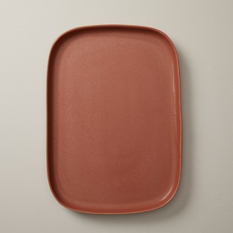 Oui Organic Stoneware Serving Tray Terracotta Large