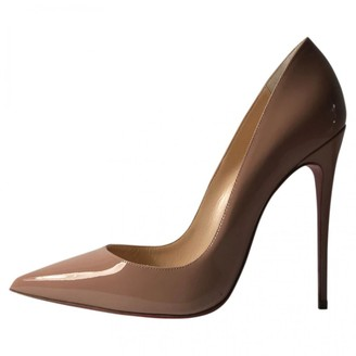 Christian Louboutin So Kate Camel Leather Heels