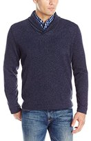 Van Heusen Men's Solid Shawl Collar Sweater Fleece