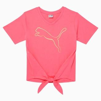 Puma Stay Bold Girls' Tie Front Fashion Tee JR