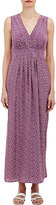 Barneys New York WOMEN'S REVERSE CHARMEUSE MAXI DRESS-PURPLE SIZE XS