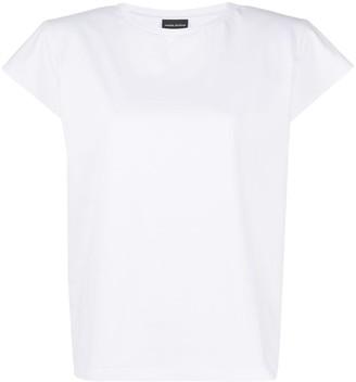 Magda Butrym cap-sleeved cropped T-shirt