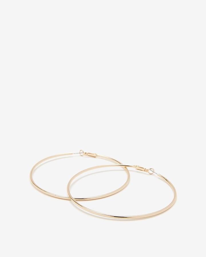 Express Large Metal Hoop Earrings