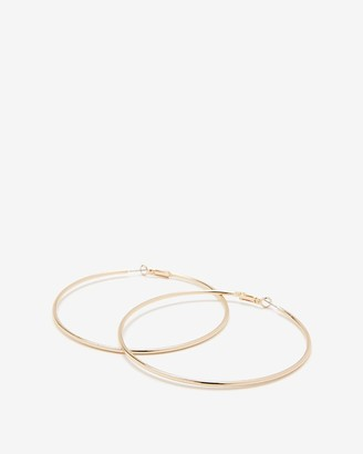 Express Large Metal Hoop Earrings