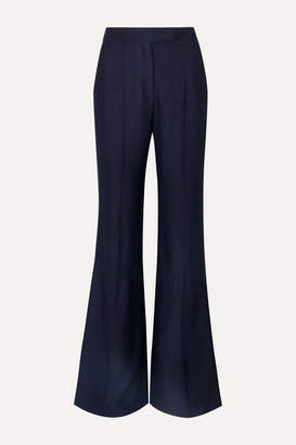 Gabriela Hearst Leda Ribbed Twill Straight-leg Pants - Navy